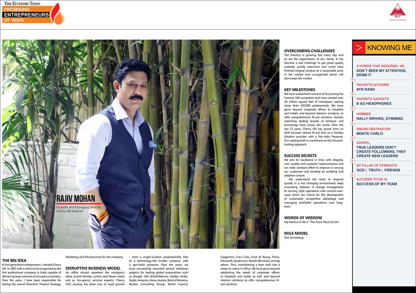 Bon Mr. Rajiv Mohan, MD Cherry Hill Interiors Ltd.